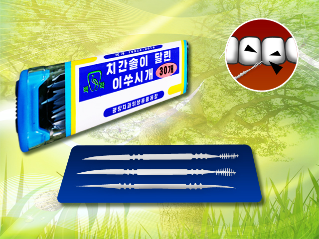 Toothpick with interdental brush